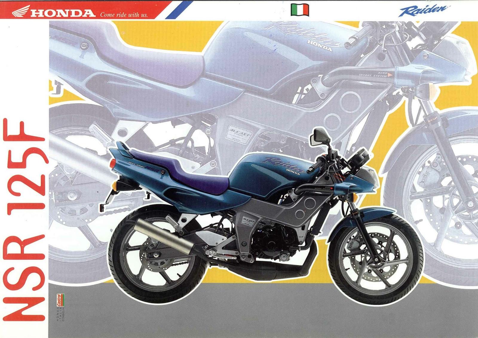 Vintage Brochures: Honda NSR 125F Raiden 1992 (Italy)
