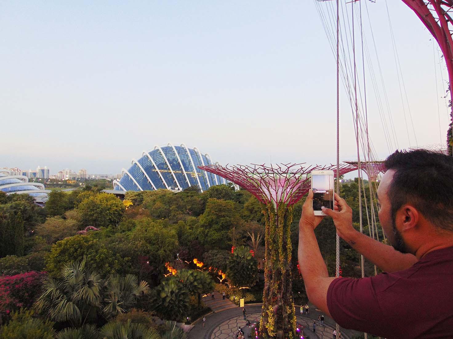 OCBC Skyway Singapura, Tempat yang Cocok buat Prewedding di Singapura, Garden Rhapsody, Jam Operasi dan Tiket OCBC Skyway, terms and condition of OCBC Skyway singapore