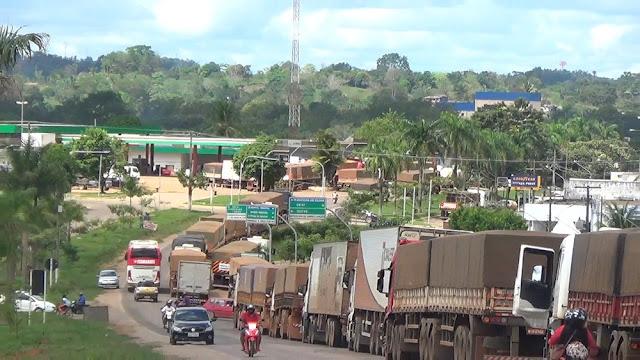 Confira os pontos de bloqueio das rodovias em Rondônia