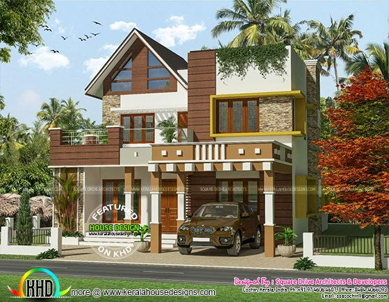 Modern 2069 square feet house
