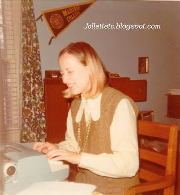 Typing at JMU 1972  http://jollettetc.blogspot.com