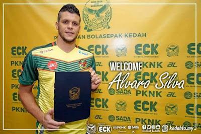 Biodata Alvaro Silva Pemain Import Baru Kedah 2018