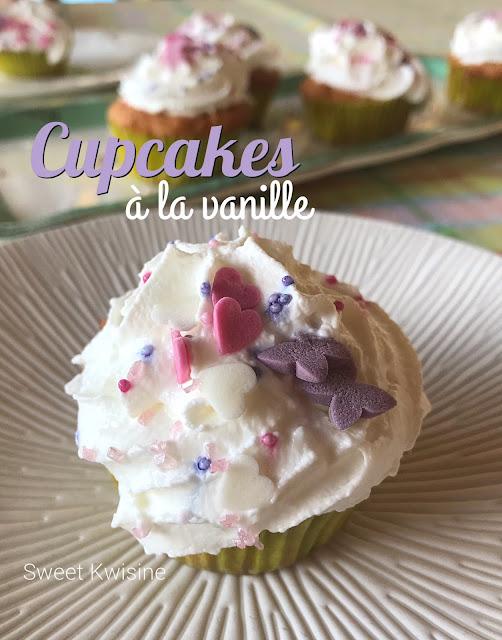 Sweet kwisine, cupcake, gâteau, cuisine pour enfant, vanille, cuisine facile, végétarien, crème chantilly, cuisine pour débutants