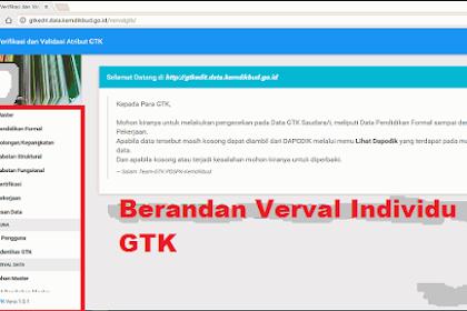 Cara Menggunakan Verval Individu GTK