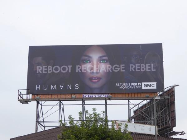 Humans season 2 Reboot Recharge Rebel billboard