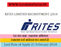 RITES Limited Recruitment 2018 – Assistant Engineer
