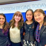 these 4 teenage girls complete their work on breast cancer research