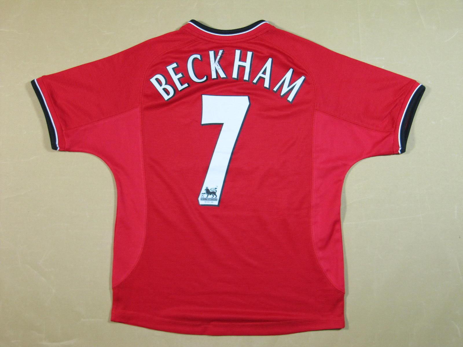Manchester United 2000-2002 Jersey - David Beckham 7 ...