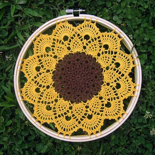 Dawnglow Sunflower - Free Pattern