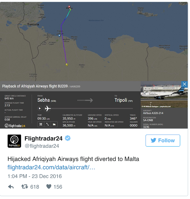 Afriqiyah Libyan Airways  Hijacked Plane: Hijackers Surrender In Malta, All 118 On Board Released (VIDEOS, PHOTOS)
