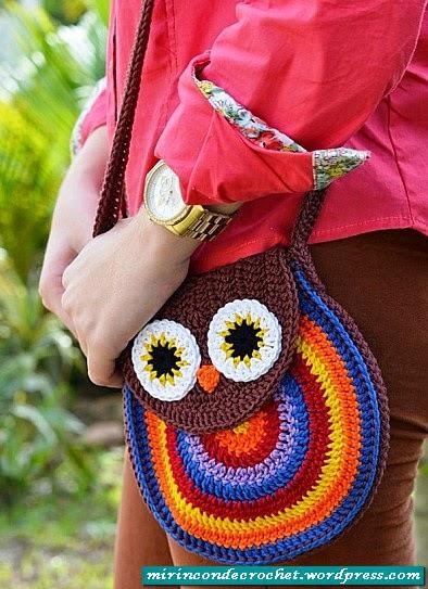 "Bolsito ""Búho"" a Crochet"