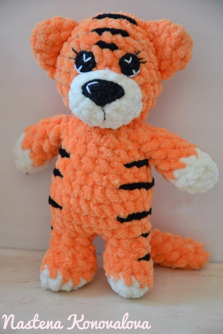 Amigurumi tiger crochet toy
