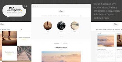 Blogex - Minimal Responsive Wordpress Theme Free Download