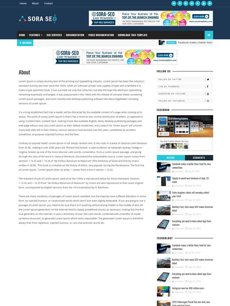 Template Blogspot Sora Seo Template Premium - Ảnh 2