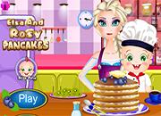Elsa y Rosy Pancakes Day