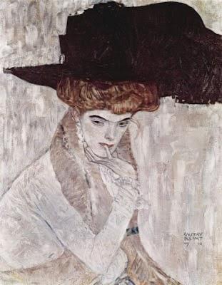Chapéu de Plumas Negras - Gustav Klimt e suas pinturas ~ Pintor simbolista austríaco