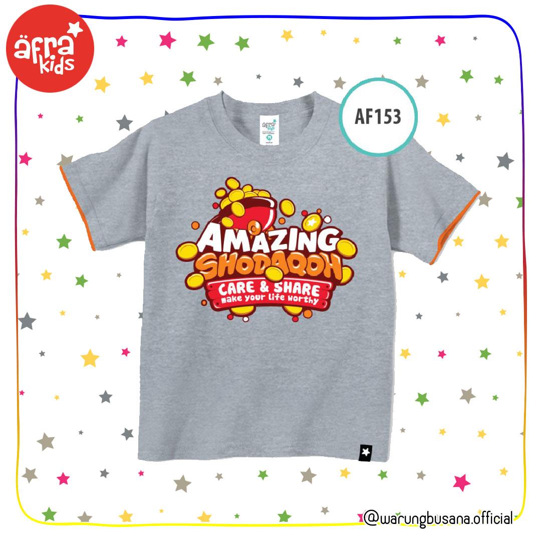 Afrakids Kaos Anak AF153 Amazing Shodaqoh