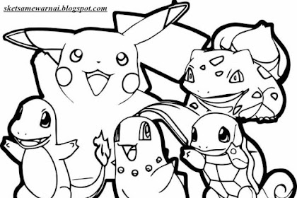 Gambar Mewarnai Pokemon Go