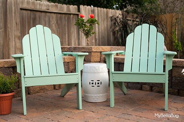 Mybellabug patio chair refresh Valspar duramax exterior satin finish