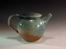 Teapot for two with ash glazes by Future Relics Gallery