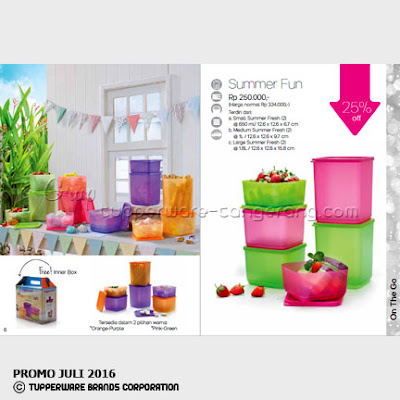 Summer Fun ~ Katalog Tupperware Promo Juli 2016