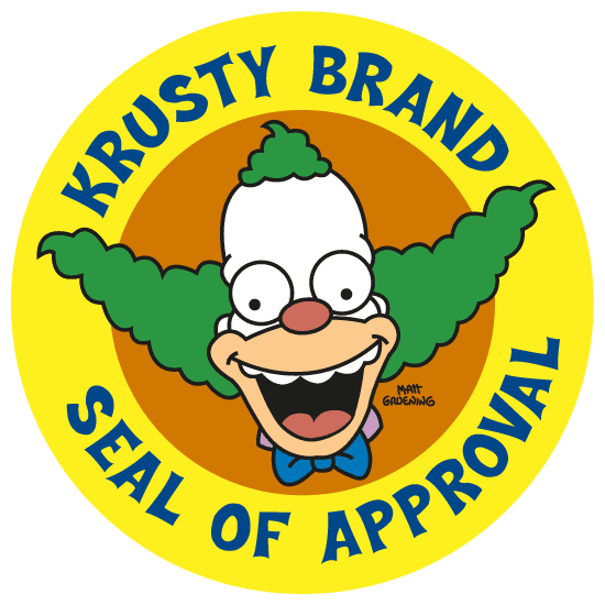 Logo de Krusty el Payaso - vector