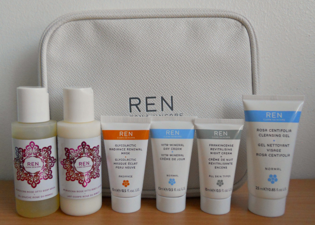 Marks and spencer gift with purchase, Marks and spencer ren gift with purchase, Ren travel kit