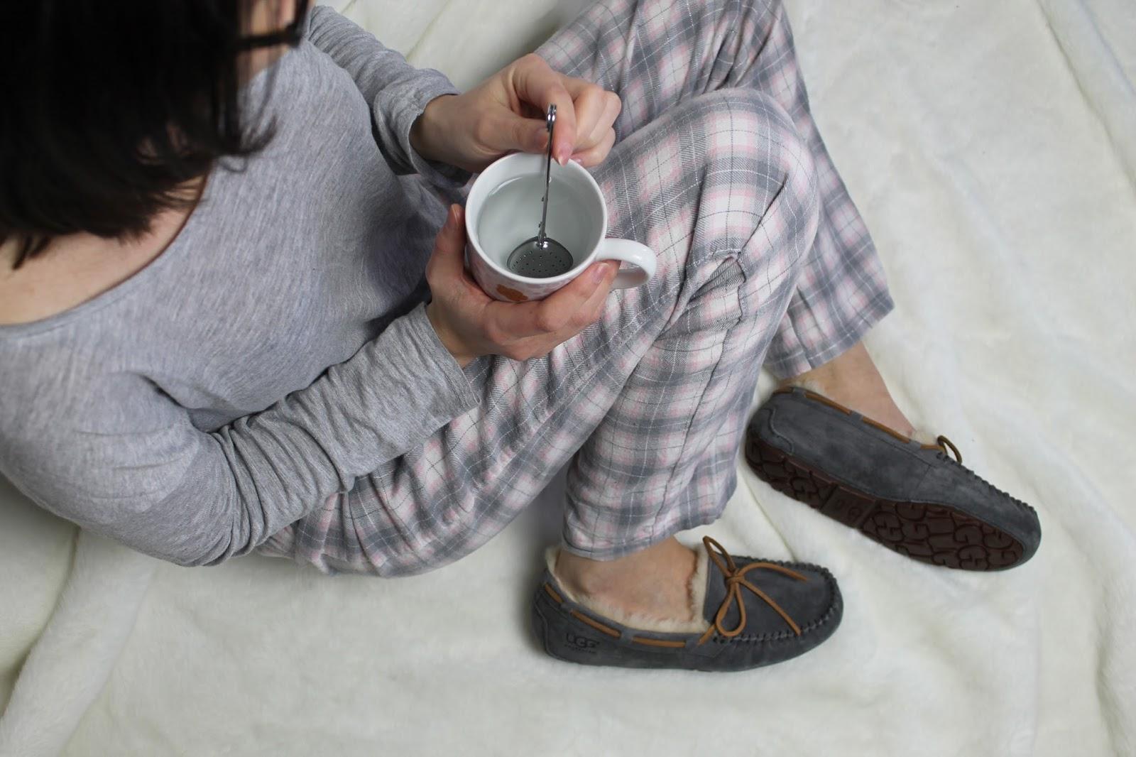 ugg australia mocassins laine cuir dakota pewter chaussons fourrés gris