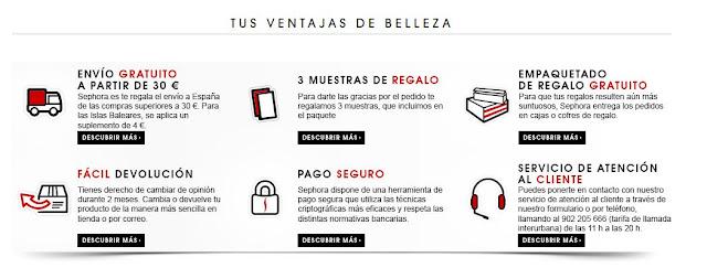 Ventajas de comprar en Sephora Online