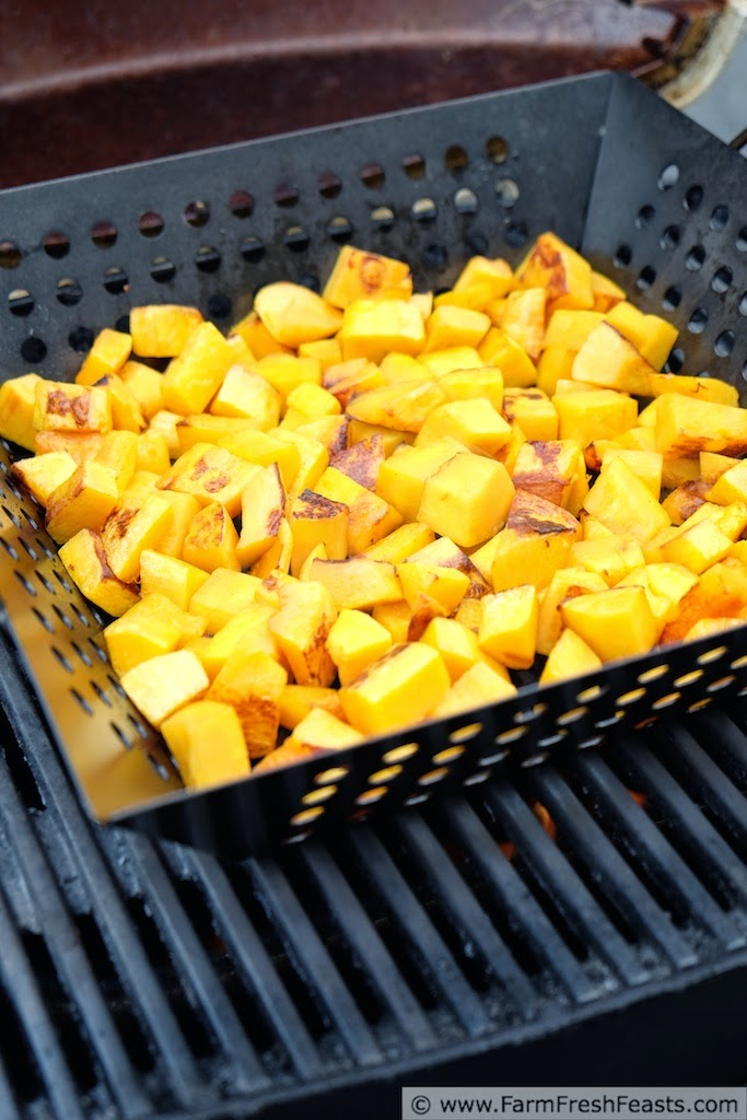 Grilled Butternut Squash & Peppers--a side, a main, or a meal.