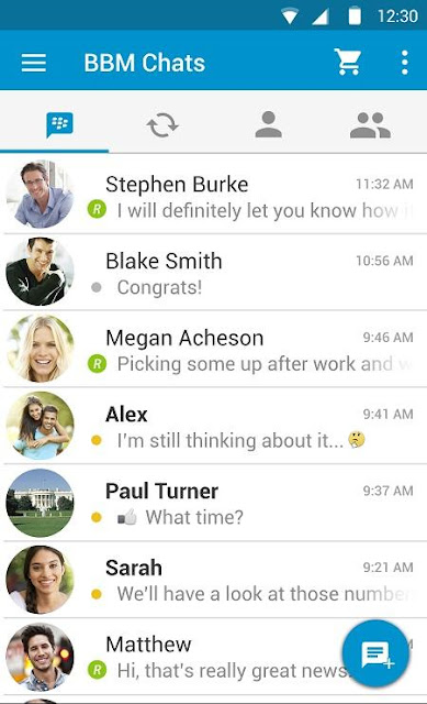 Official BBM Material Design Screenshot