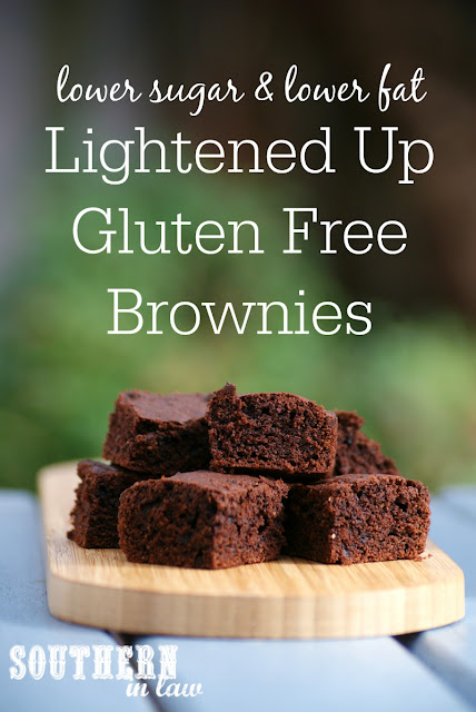 Healthier Gluten Free Brownie Recipe with Chewy Edges  low fat, gluten free, low sugar, refined sugar free, clean eating friendly, lightened up, healthy brownie recipes