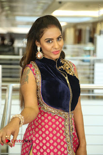 Telugu Actress Sri Reddy Mallidi Stills in White Beautiful Dress at Marriage Needs Bridal Fashion Week 2017 Logo Launch  0116.JPG