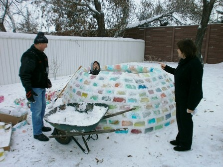 Colourful DIY igloo