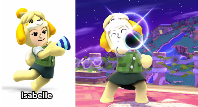 Isabelle Animal Crossing Super Smash Bros. Mii Fighter Gunner costume