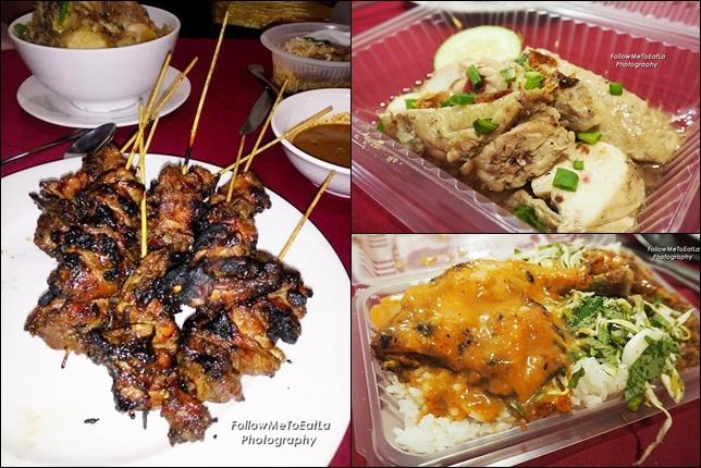 Sate Tulang Ayam, Salted Chicken &  Ayam Percik