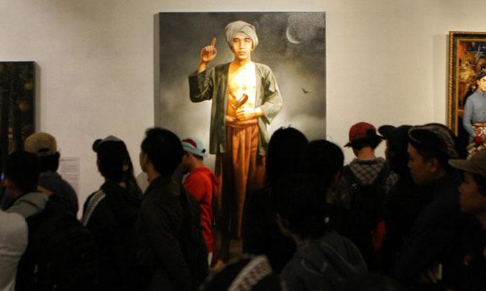Loh Kok Lukisan Wajah Diponegoro Msih Muda Dibuat Mirip Jokowi