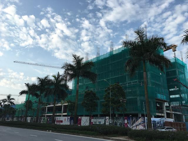 Hình ảnh công trường thi công xây dựng chung cư The K-Park