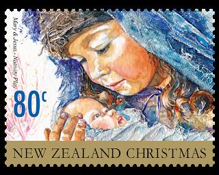 Nueva Zelanda - Navidad 2014 - Valor 80 centavos de NZD - Engomado