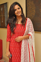 Anasuya Bharadwaj in Red at Kalamandir Foundation 7th anniversary Celebrations ~  Actress Galleries 011.JPG