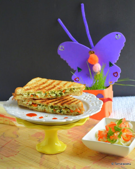 Grilled Paneer Sandwich