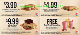 Burger King coupons february 2017