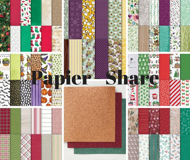 Papier-Designerpapier-Share