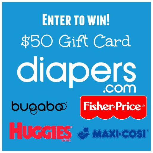 $50 Diapers.com Gift Card Giveaway 9/30