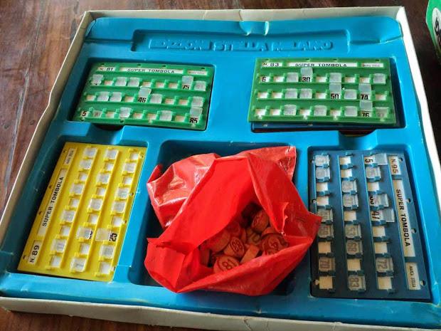 Gioco Della Tombola Vintage Bingo Game Set