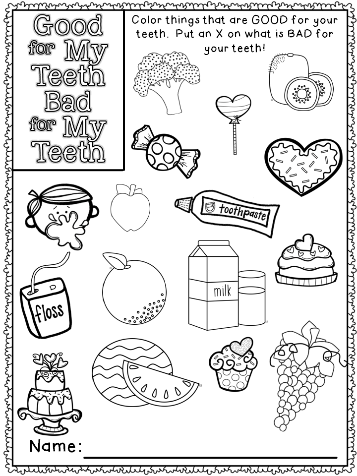 Mrs. Russell's Room: Dental Health Freebie