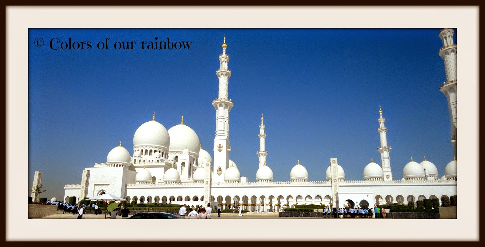 The grand mosque abudhabi @colorsofourrainbow.blogspot.ae
