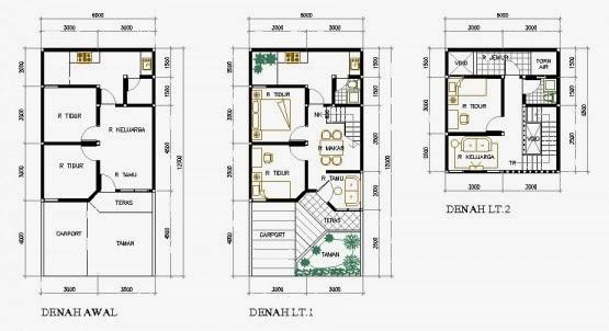 Gambar Denah Rumah Tipe 36  Desain Rumah Desain Rumah