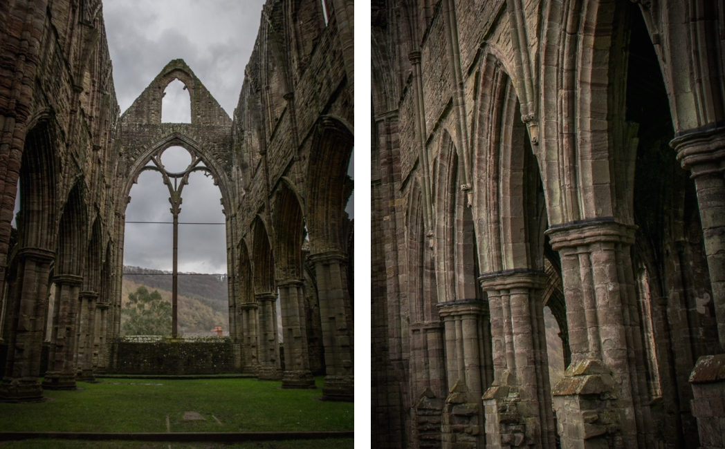 Inside Tintern Abbey, Tour of Tintern