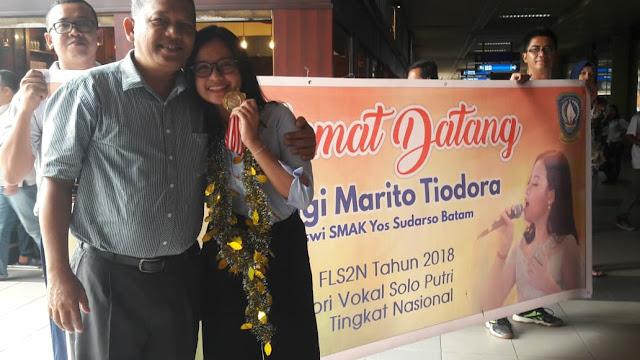 Siswi SMA Yos Sudarso, Anggi Marito Simanjuntak Harumkan Nama Kepri di Tingkat Nasional